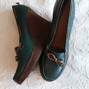 LL Bean Dress Moccasin Heels